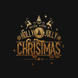 圣诞节庆祝的贺卡设计 免版税库存照片