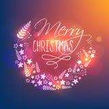 圣诞节庆祝的贺卡设计 图库摄影