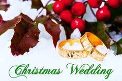 圣诞节建议婚礼 免版税库存图片