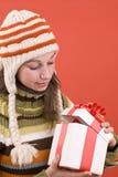 圣诞节开放礼品的魔术 图库摄影