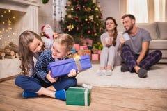 圣诞节开玩笑存在 免版税库存照片
