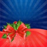 圣诞节弓 免版税库存照片