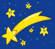 圣诞节彗星 免版税库存照片
