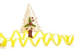 圣诞节彩纸带结构树 库存图片
