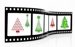 圣诞节影片主街上结构树 图库摄影