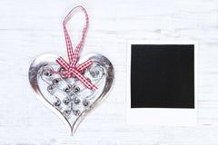 圣诞节心脏和空白的图象 库存图片