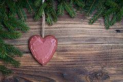 圣诞节心脏 免版税库存图片