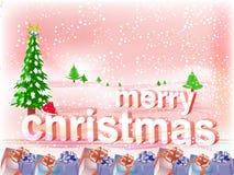 圣诞节快活的墙纸 免版税库存图片