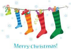 圣诞节快活的明信片 库存例证
