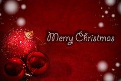 圣诞节快活的明信片 免版税库存照片