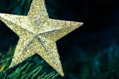 圣诞节快活的星形 免版税库存照片
