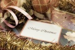 圣诞节快活的消息 库存图片