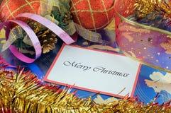 圣诞节快活的消息 库存照片