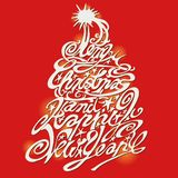 圣诞节快活的结构树 免版税库存照片