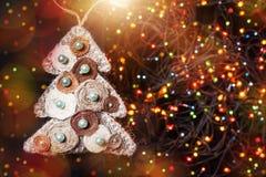 圣诞节快活的结构树 免版税图库摄影