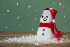 圣诞节快活的雪人 免版税库存图片