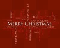 圣诞节快活的字 免版税库存照片