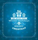 圣诞节快活的愿望 库存例证