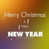 圣诞节快活的新年度 免版税库存图片
