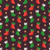 圣诞节快活的模式 免版税库存图片