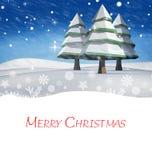 圣诞节快活的消息 库存例证