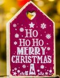 圣诞节快活的消息 图库摄影