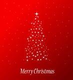 圣诞节快活的结构树 库存图片