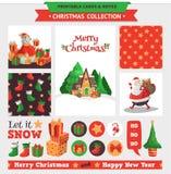 圣诞节快活的集 免版税库存照片