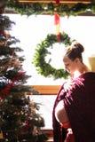 圣诞节怀孕 库存图片