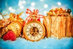 圣诞节怀表 库存照片