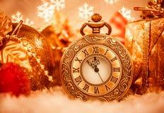 圣诞节怀表 免版税图库摄影