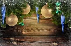 圣诞节愉快的快活的新年度 库存照片