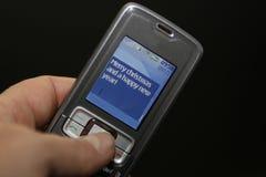 圣诞节愉快的快活的新的texting的年 库存照片