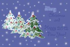 圣诞节愉快的快活的新的结构树年 免版税库存照片