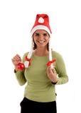 圣诞节愉快的快活的新年度 免版税库存照片