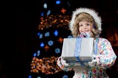 圣诞节愉快的晚上 免版税库存图片