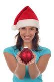 圣诞节愉快的装饰品妇女 免版税库存图片