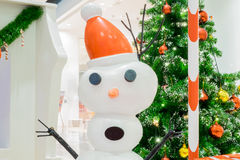 圣诞节愉快的雪人 库存照片