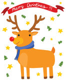 圣诞节愉快的驯鹿 皇族释放例证