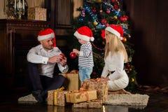 圣诞节愉快系列的礼品 库存照片