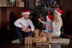 圣诞节愉快系列的礼品 图库摄影