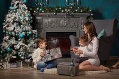 圣诞节愉快系列的礼品 免版税库存照片