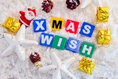 圣诞节愿望图象想法 库存图片