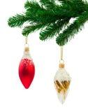 圣诞节戏弄结构树 图库摄影