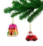 圣诞节戏弄结构树 免版税库存图片