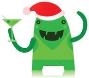 圣诞节成套装备的绿色妖怪 向量例证