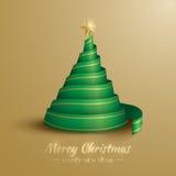 圣诞节我的投资组合结构树向量版本 快活的圣诞节 库存例证