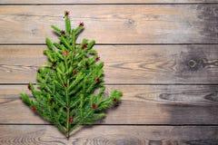 圣诞节我的投资组合结构树向量版本 概念 图库摄影