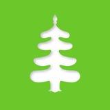 圣诞节我的投资组合结构树向量版本 激光切口模板 免版税库存图片
