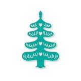 圣诞节我的投资组合结构树向量版本 激光切口模板 库存图片